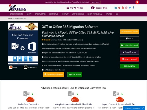 Stella ost emails converter tool