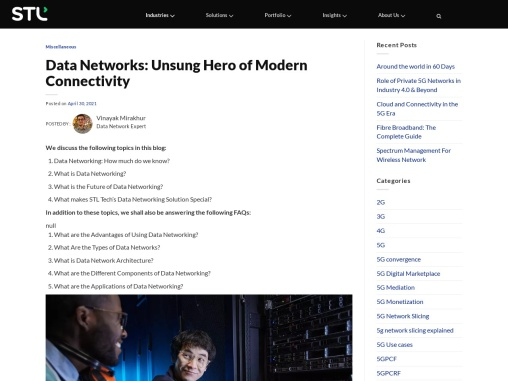 """""""Data Networks: The Unsung Hero of Organisational Success """""""