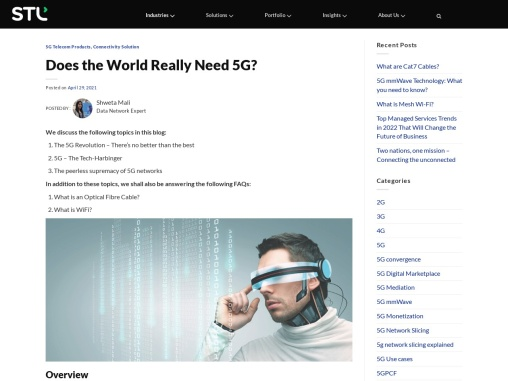 Does the World Really Need 5G?