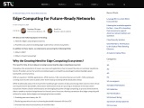Edge Computing for Future-Ready Networks
