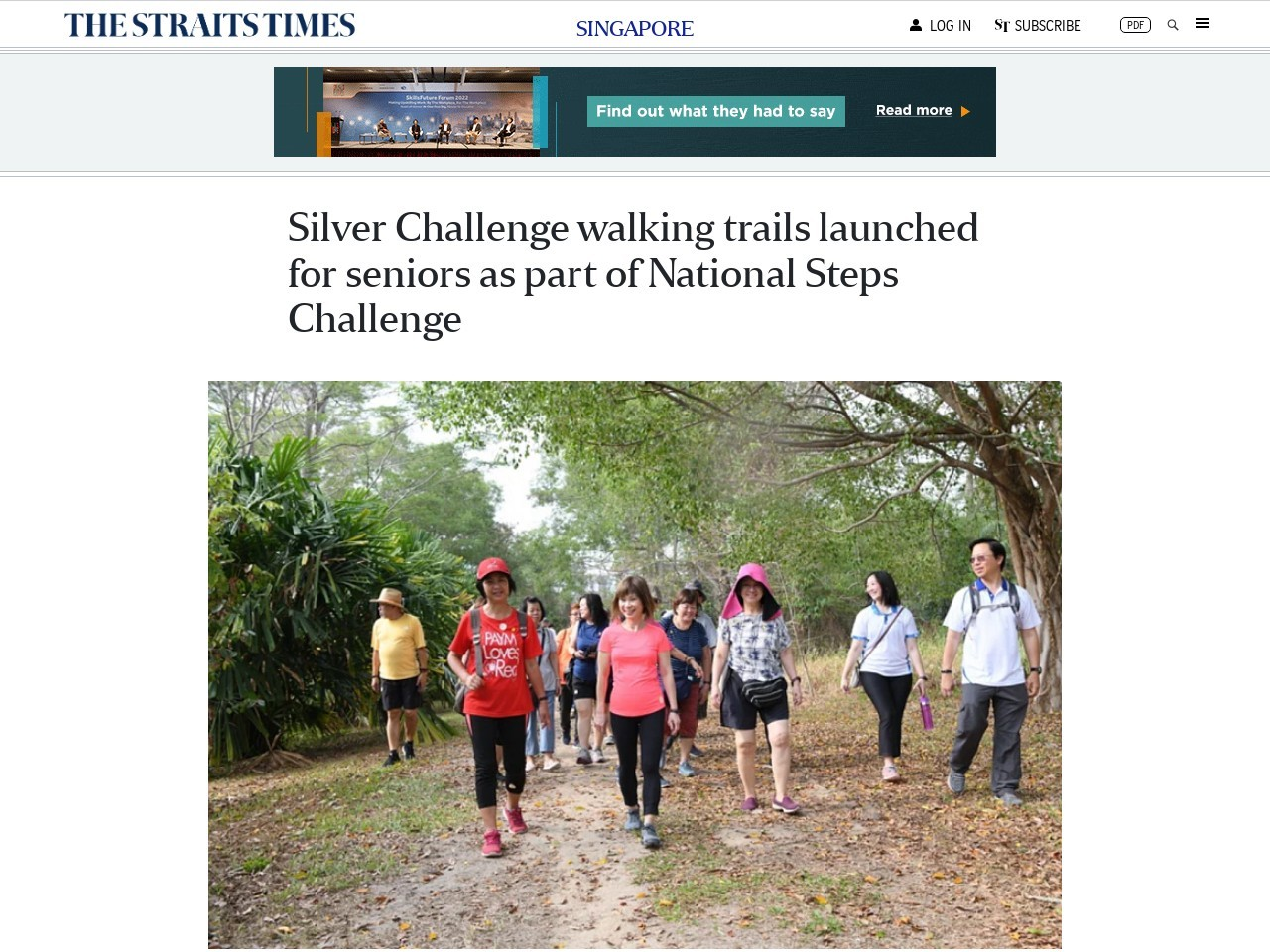 Silver Challenge walking trails launched for seniors as part of…