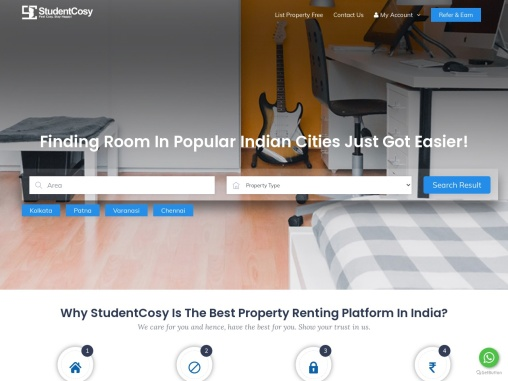 Search Pg for students in Kolkata – Book online at Studentcosy