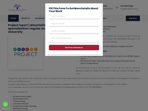 bangalore university project report