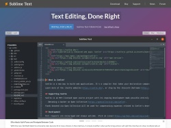 SublimeText – A sophisticated text editor for code, markup and prose