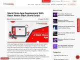 Build Slack Clone Application with Our Readymade React Native Slack Clone Script