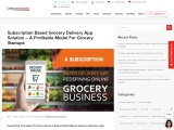 Subscription Based Grocery Delivery App