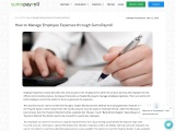 How to Manage Employee Expenses through SumoPayroll