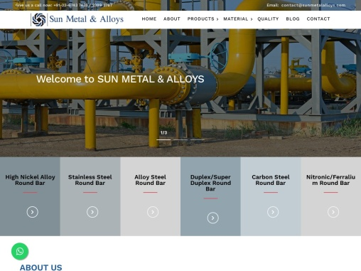 Sun Metal & Alloys  Manufacture and Supplier