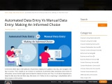 Automated Data Entry Vs Manual Data Entry Service : A Quick Guide