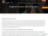 Accurate Magento Product Upload Services Offer by SunTec Data