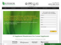 Superior Supplement Manufacturing screenshot
