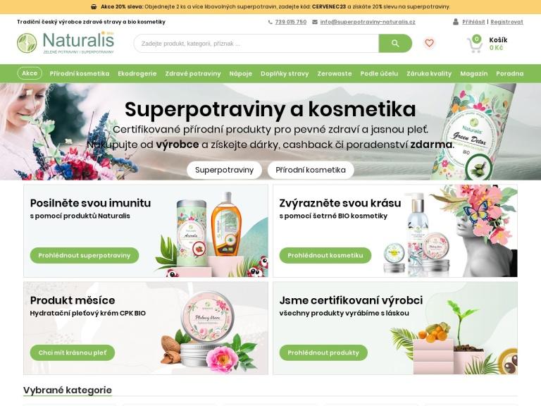 Superpotraviny-naturalis.cz screenshot