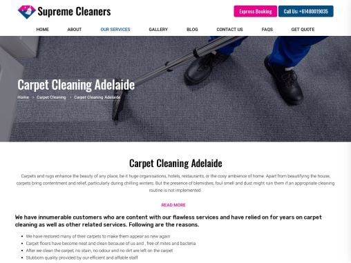 Carpet Cleaning -Supreme Cleaners