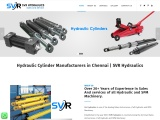 Hydraulic Cylinder Manufacturers in Chennai | SVR Hydraulics