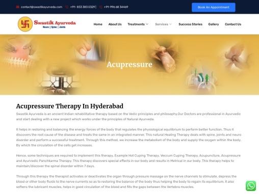 Best Acupressure Ayurvedic Clinic and Center in Hydernagar, Hyderabad