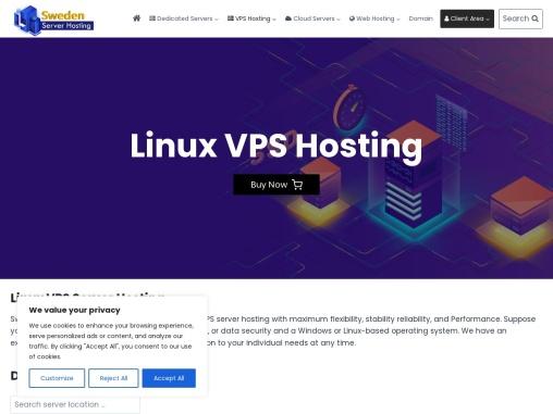 Sweden based Linux VPS Hosting