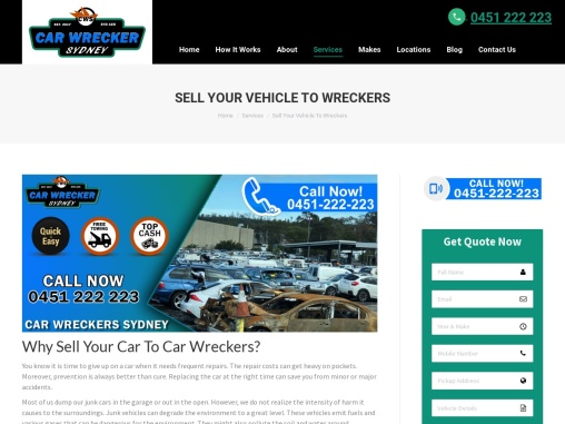 Sell Your Vehicle To Local Scrap Car Wreckers