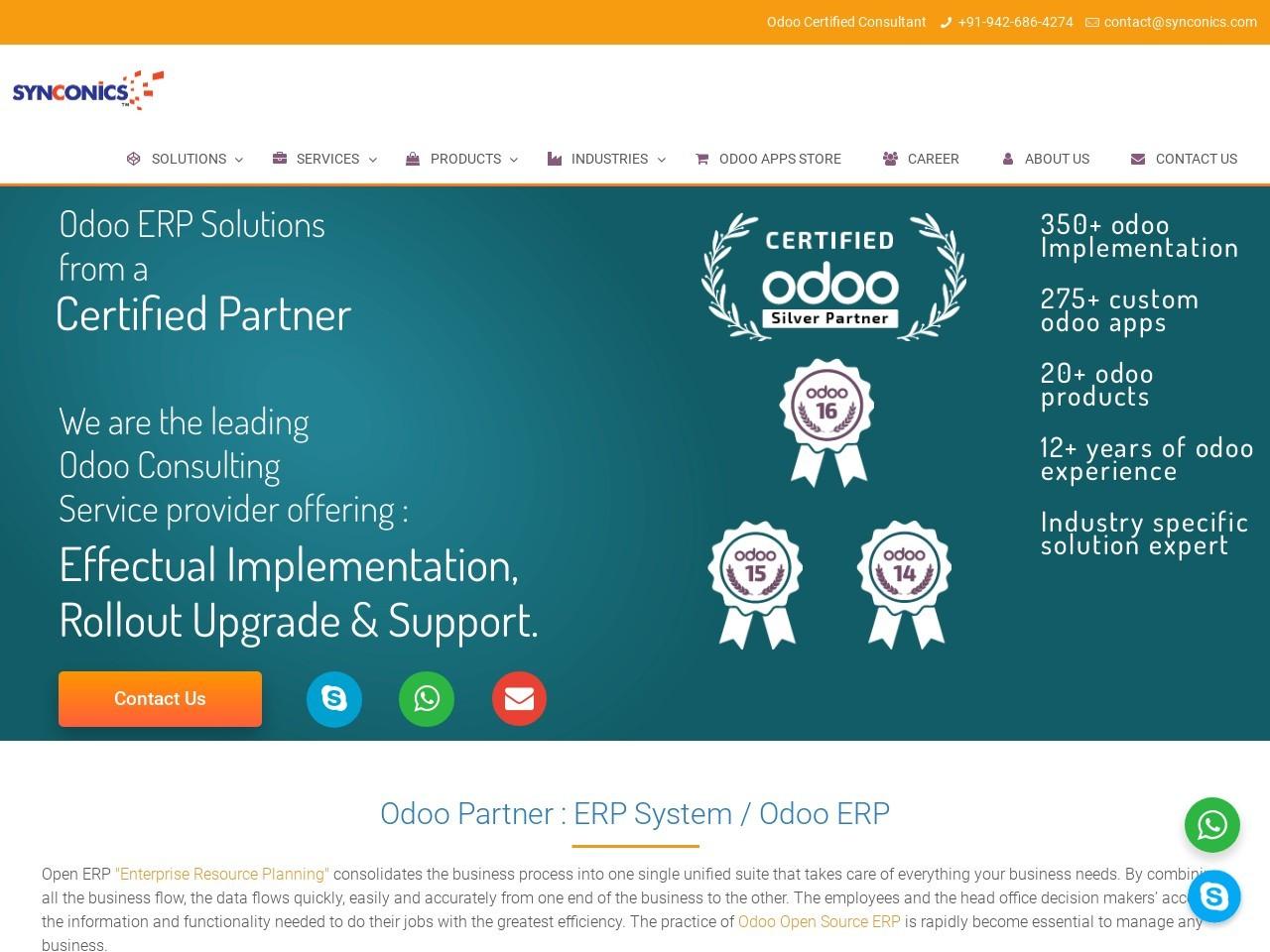 Allure Theme | Odoo ERP | Synconics