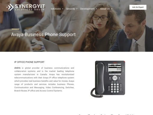 Avaya IP Business Phone Support Solution
