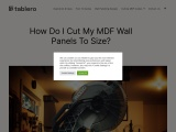mdf wall panels