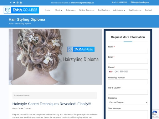 Top Hairstyling Course Toronto