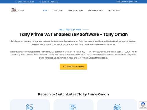 Tally Prime VAT Enabled ERP Software – Tally Oman