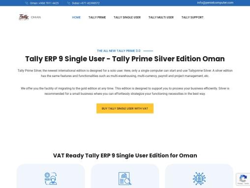 Tally ERP 9 Single User – Tally Prime Silver Edition Oman