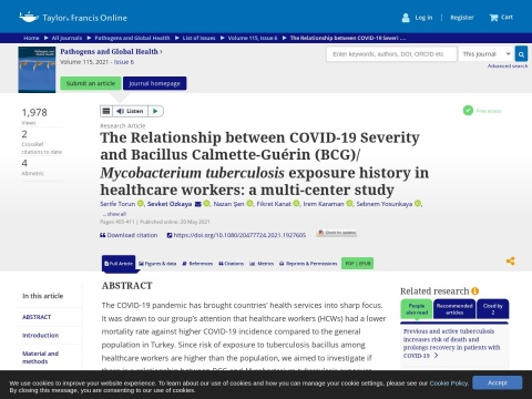 The Relationship between COVID-19 Severity and Bacillus Calmette-Guérin (BCG)/ Mycobacterium tuberculosis exposure history in healthcare workers: a multi-center study