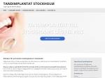 Tandimplantat Stockholm