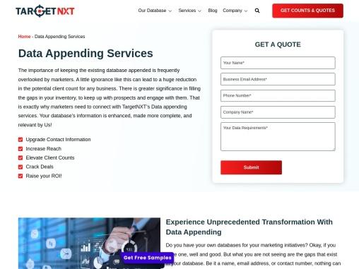 Data Appending Services | Data Appending