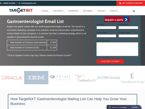 Gastroenterologist Mailing List | Gastroenterologist Email List