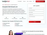 Hospital CEO Email List – TargetNXT