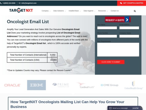 Oncologist Email List | Oncologists Mailing List