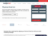 Physician Email List | Physician Mailing List