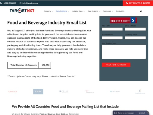 Food and Beverage Industry Email List
