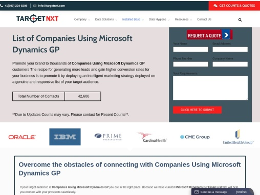 Companies Using Microsoft Dynamics GP