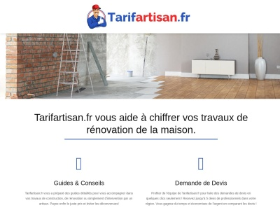 Tarifartisan.fr : travaux de rénovation