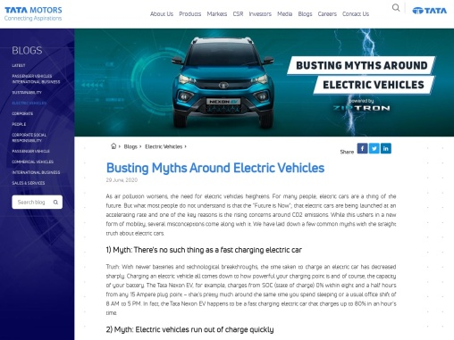 Busting Myths Around Electric Vehicles