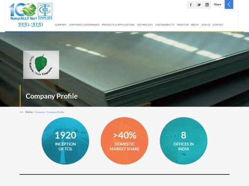 The Tinplate Company of India Limited