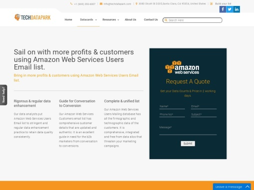 Amazon Web Services Users Email List | AWS Customers Mailing Database