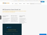 MS Dynamics Users Email List | MsDynamics Customers Database