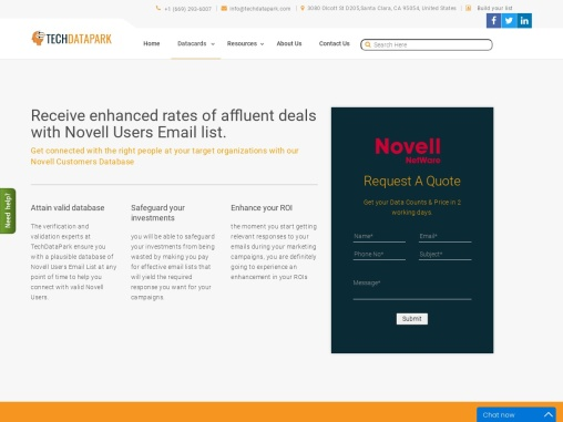 Best Novell Users Email List | Top Companies that use Novell