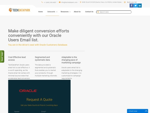 Oracle Users Email List   Oracle Customers Mailing Database