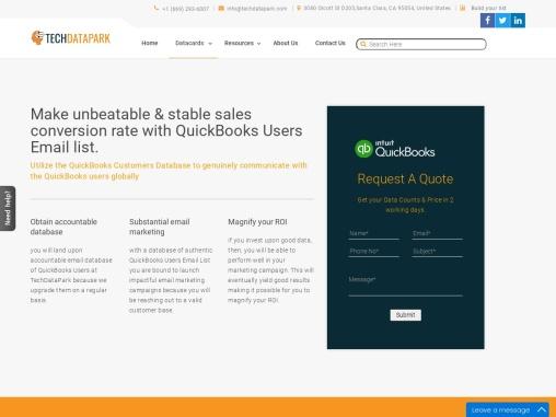 QuickBooks Users Email List | QuickBooks Customers Addresses