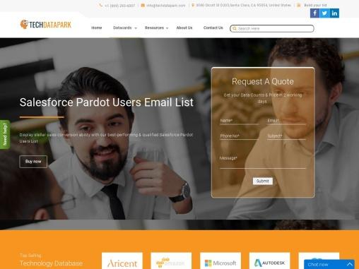 Salesforce Pardot Users Email List | Pardot Customer Database
