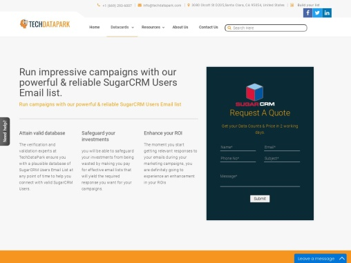 SugarCRM Users Email List | SugarCRM Customers Contact Database