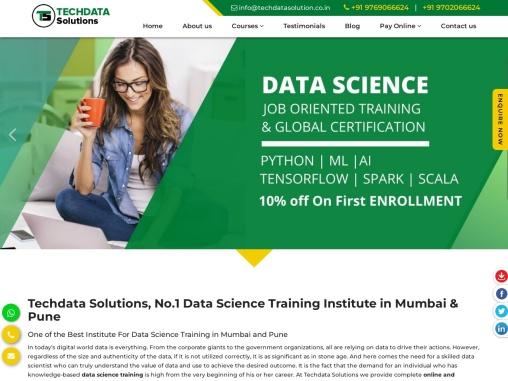Techdata Solutions-Data Science Training Course In Mumbai