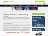 Benefits of professional Content Writing Services