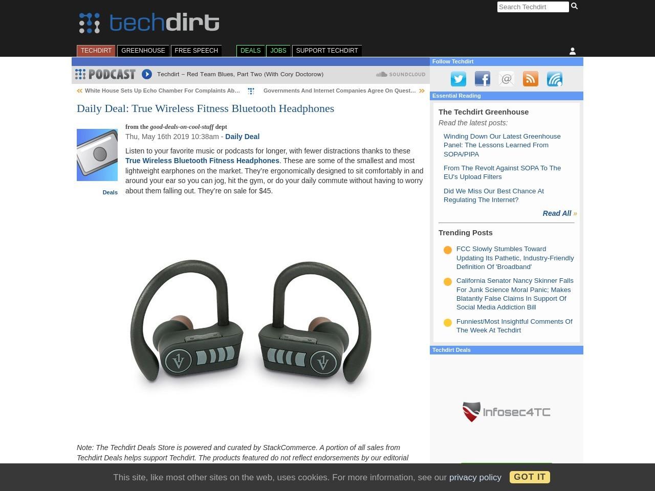 Daily Deal: True Wireless Fitness Bluetooth Headphones