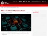 What is an Advanced Persistent Threat?